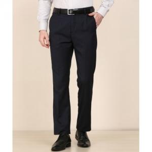 Arrow Blue Regular Fit Formal Trousers