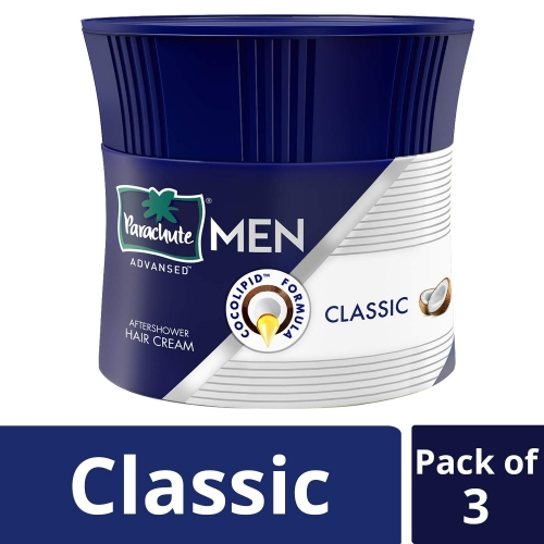 Parachute Advansed Classic Hair Cream For Men, 100g (Pack Of 3)