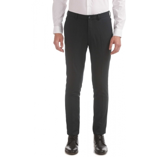 Arrow New York  Grey Cotton Slim Fit Trousers