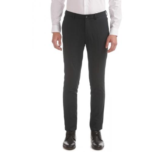 Arrow New York  Grey Cotton Slim Fit Trousers