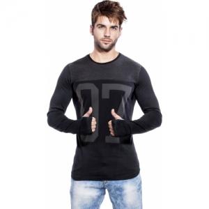 Maniac Graphic Print Cotton Slim Fit Round or Crew Black, Grey T-Shirt
