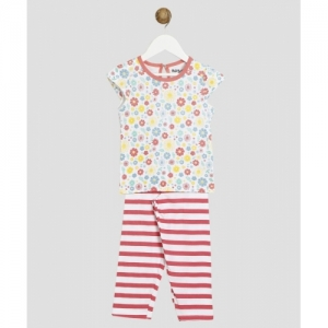 Miss & Chief Multicolour Printed Cotton Blend Kids Nightwear Girls