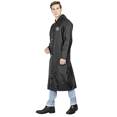 FabSeasons Extra Large (XL) Unisex Waterproof high Quality Long/Full Raincoat Adjustable Hood Reflector at Back Night Visibility. Pack Contains Top Storage Bag