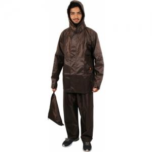 Duckback Brown Solid Men Raincoat