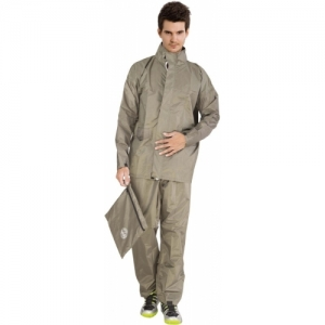 Duckback Beige Solid Men Raincoat
