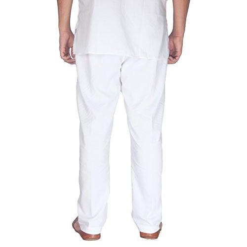Rajubhai Hargovindas White Cotton Pyjama | 2 Side Pockets