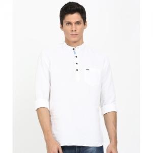 8a191332a8 Buy S9 Men Black Cotton Blend Full Sleeves Kurta online | Looksgud.in
