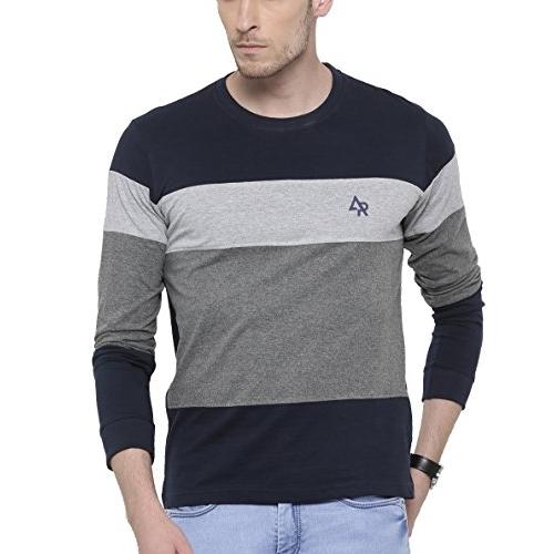 Adro Multicolour Cotton Full Sleeves T-Shirt