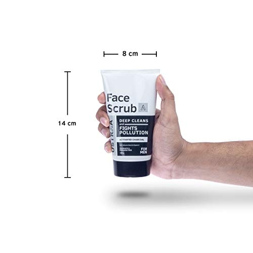 Ustraa Activated Charcoal Face Scrub, 100g
