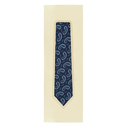 Barata Formal Slim ties For Men, Navy Blue Checks Woven Tie