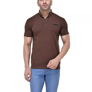 f87d0762488 Buy Tinted Sky Blue Men s Cotton Linen Henley T-Shirt online ...
