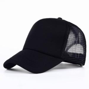 f56475b796d48 Jannat Fashion Solid Black Solid Half Net Cap