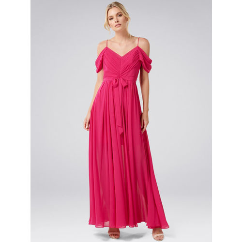 8b172a1aa Buy Forever New Women Pink Solid Maxi Dress online | Looksgud.in