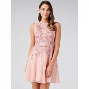 7e1097de027 Buy FOREVER 21 White Lace Fit   Flare Dress For Women online ...
