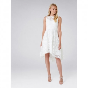 2e7f6245503 Buy Forever New Women White Lace Fit and Flare Dress online ...
