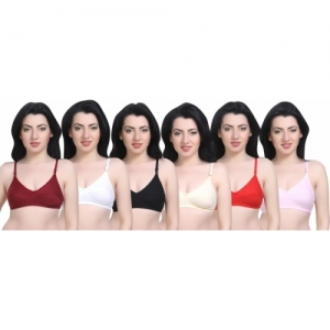 Sexy Bust Full Coverage Non Padded Bra(Multicolor)
