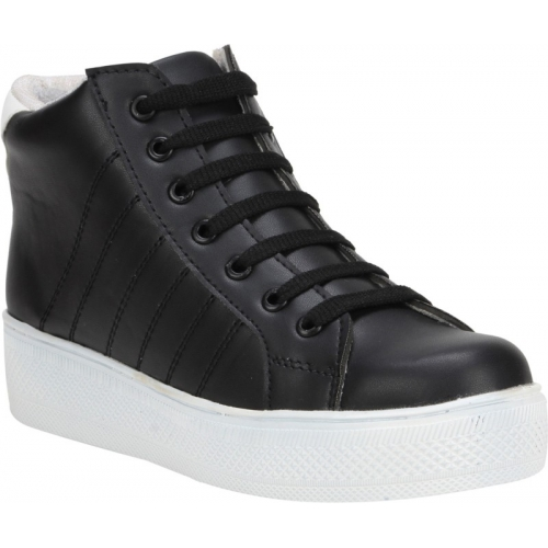 QUICK STEP Black Synthetic Leather High Ankle Casual Shoes