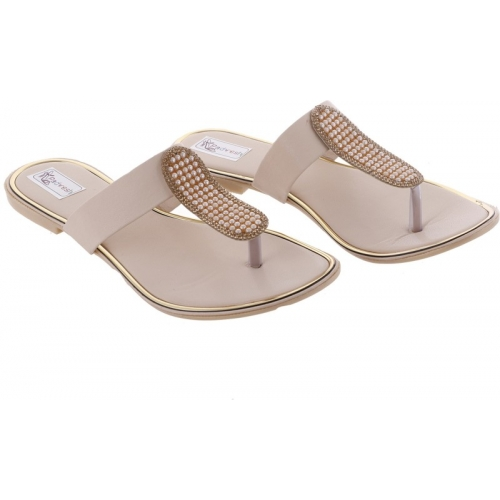 Padvesh White Synthetic Slip-On Chappals