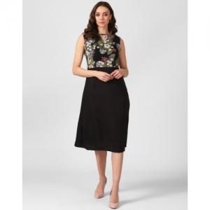 e467b15014 Buy Code Yellow Women's Maroon Buttoned Velvet Winter Dress online ...