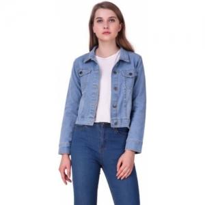 GSA MALL Blue Full Sleeve Solid Denim Jacket