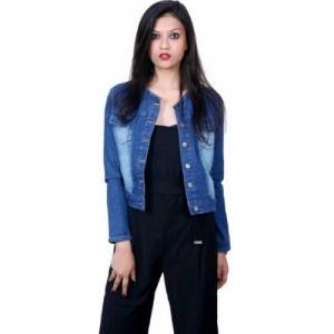 Ladybird Blue Full Sleeve Self Design Denim Jacket