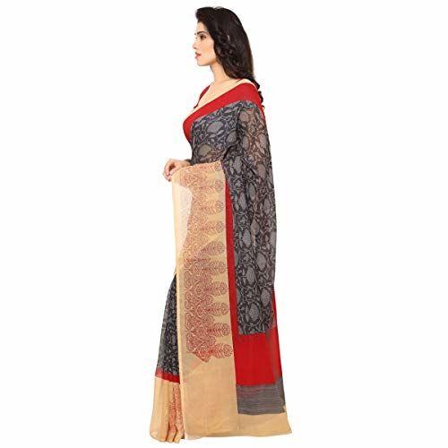 Triveni Sarees Triveni Grey Color Art Silk Fabric Traditional Everyday Wear Saree For Women