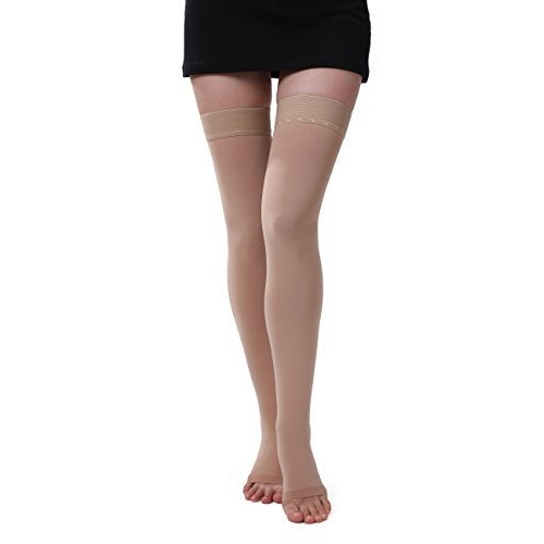 ONTEX Imported Cotton Compression Stockings Thigh Length for Varicose Veins