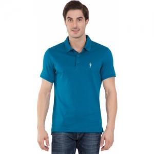 874e7125 Buy Jockey Striped Men's Polo Neck Blue T-Shirt online | Looksgud.in