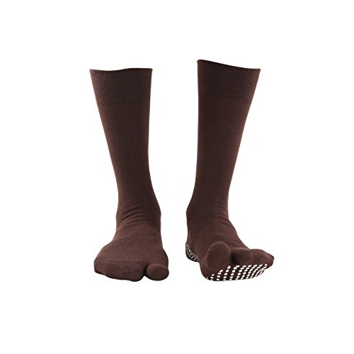 NO FALL NOFALL Cotton Anti-slip Split Toe Socks, Pack of 2