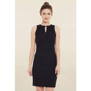 Miss Chase Women Bodycon Black Dress