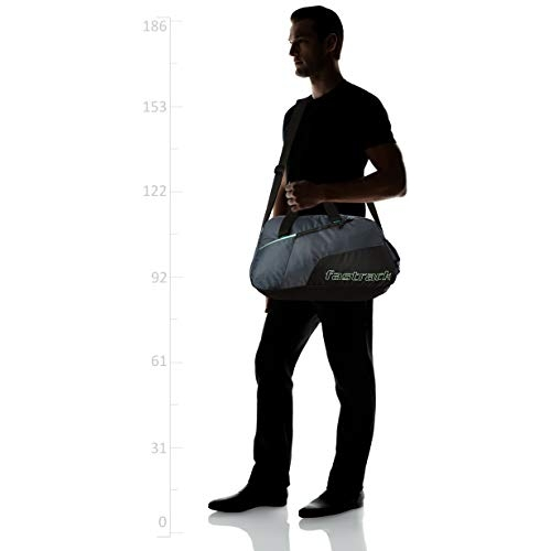 Fastrack Polyester 17 inches Black Travel Duffle