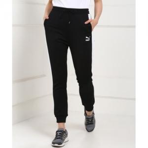 Puma Solid Black Polycotton Track Pants