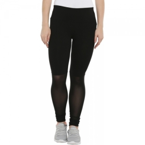 Ajile by Pantaloons Solid Black Cotton Lycra Track Pants