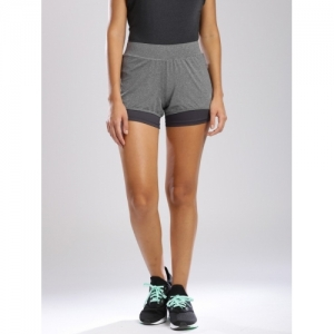 HRX by Hrithik Roshan Grey Solid Sports Shorts