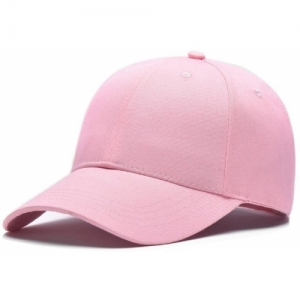 ZACHARIAS Solid Cotton Baseball Pink Cap
