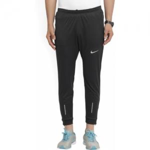 Nike Black Cotton Solid Track Pants