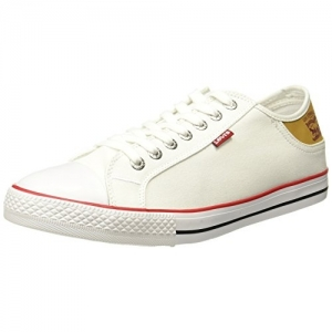 Levi's White Canvas Lace Up Sneakers