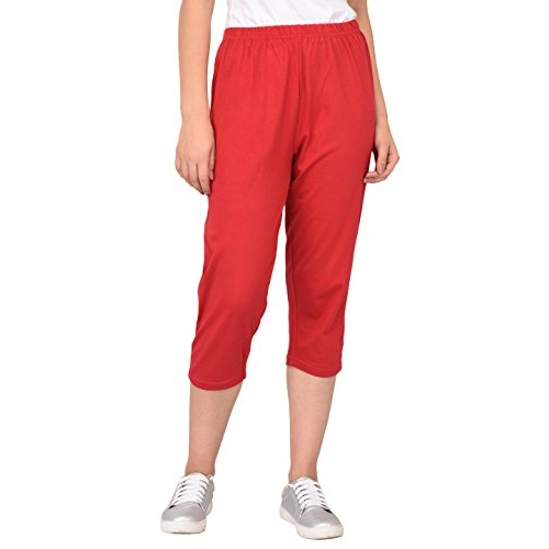 Espresso Women's Casual Relaxed Fit Cotton 3/4th Capri Pants - Pack of 3