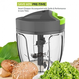 Home Puff Green Plastic H14 0.9-Liter Chopper