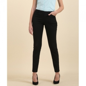 Arrow Regular Fit Women Black Trousers