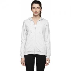 Ajile by Pantaloons Grey Full Sleeve Self Design Women Sweatshirt