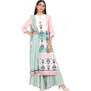 W Women Multi Colour Printed Straight Kurta