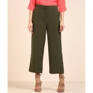 Van Heusen Relaxed Women Green Trousers