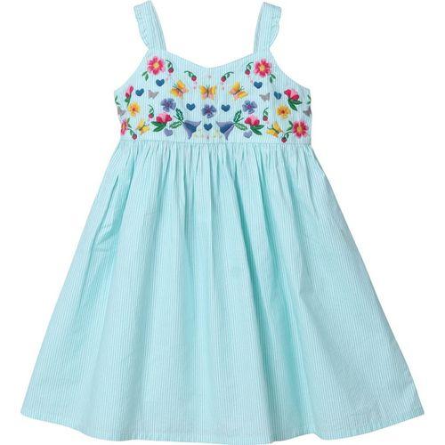 Beebay Girls Midi/Knee Length Casual Dress(Light Green, Noodle strap)