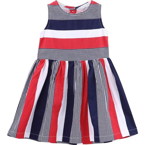 Beebay Girls Midi/Knee Length Casual Dress(Multicolor, Sleeveless)