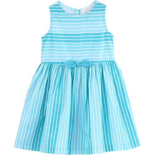 Beebay Girls Midi/Knee Length Casual Dress(Blue, Sleeveless)