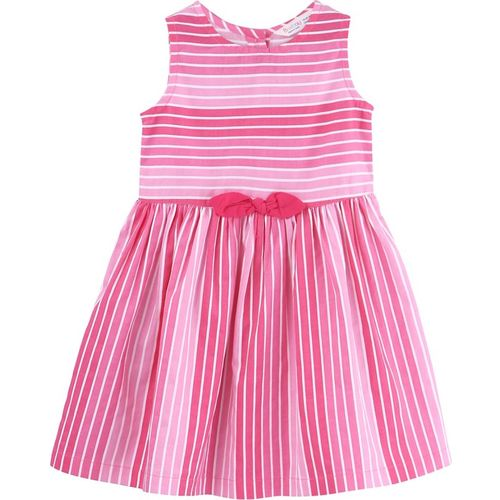 Beebay Girls Midi/Knee Length Casual Dress(Pink, Sleeveless)