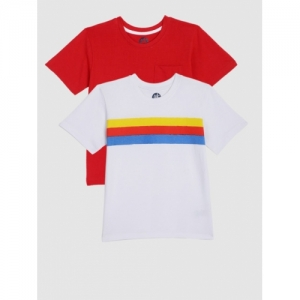 3e0bfb0c60500e Buy Tommy Hilfiger Boys Red Printed Round Neck T-shirt online ...