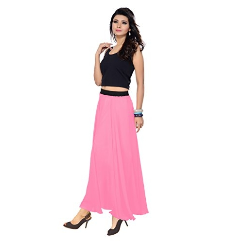 Rajvila Pink Cotton Women'S Skirts
