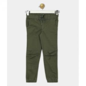 Provogue Regular Fit Cotton Blend Green Trousers